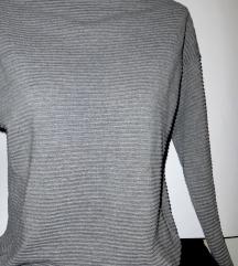H&M sivi dzemper - pamuk i viskoza