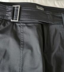 MEXX sjajne crne pantalone 38