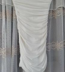 Mini bela haljina S