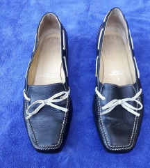 HASSIA Germany kozne teget cipele mokasine