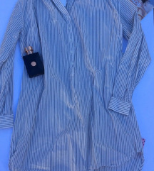 Tunika haljina  sivo bela  H&m Nova