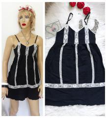 H&m crna haljina sa cipkom