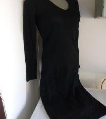 Crna trikotaza haljina M