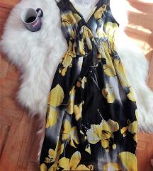 Hitna prodaja! Haljina sa žutim cvetovima S-M-L