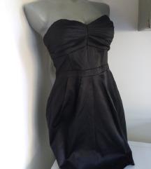 H&M faltice na grudima haljina S