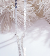Srebrni lanac 60cm. Novo