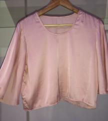 Svilena roza bluza