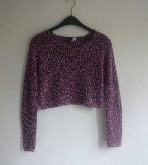 H&M crop rupičast džemper