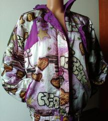 Vintage sarena tanja jakna S