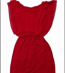 relepa crvena haljina jednom obucena S/M