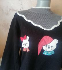 Topao džemper sa medama