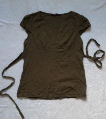Tally Weijl maslinasto zelena vezena bluza