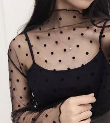 Prozirna majica na tufne, NOVO