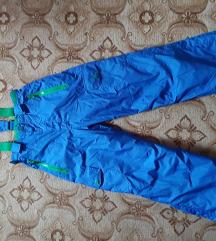 Plave ski pantalone vel. 134 / 140 - kao nov