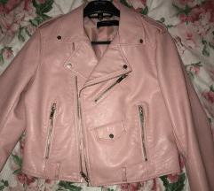 Roze zara kozna jakna