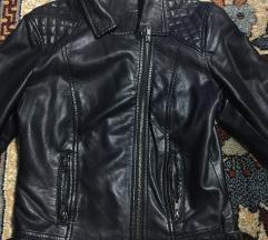 Crna kožnatim kratka jakna