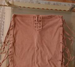 Plišana suknja sa resama