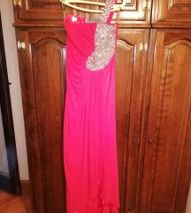 Elegantna dugačka korset haljina sa kamenjem