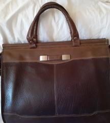 SOLID kozna poslovna torba