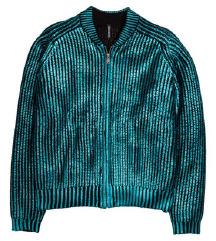 H&M metalik džemper-jakna, nova