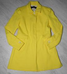 Predivan puniji ZARA žuti mantil S/M
