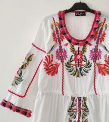 INDIJSKA 100%cotton haljina sa vezom NOVA