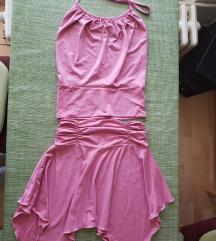 roze komplet suknja i majica,S/M
