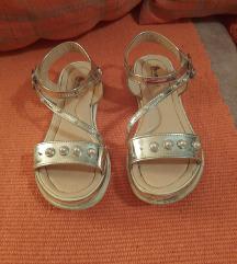 Decije srebrne sandale