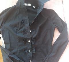 Crna košulja rukavi XS/S 34/38