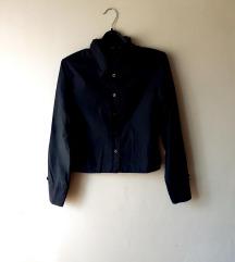 Crop crna košulja dugih rukava