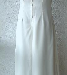 bež duga svečana haljina broj M