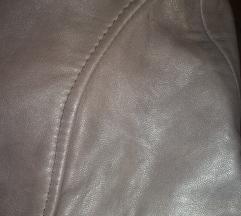Kožna braon suknja