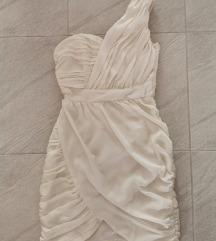 Bela haljina/venčanica na jedno rame 💎