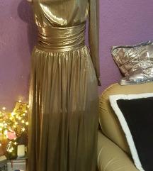 HALJINA BALLARY GOLD DRESS