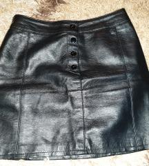 H&M kozna suknja