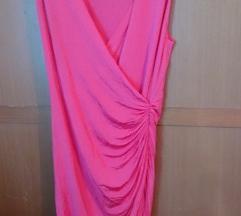 H&M Pink haljina na preklop S/M