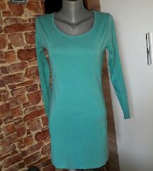 Tirkizna basic haljina