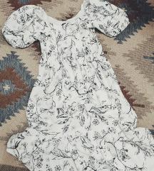 Reserved bela haljina sa crtezima cveca