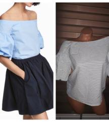 H&M zanimljiva majca gola ramena