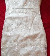 Sljokicasta biserna haljina vanila boje