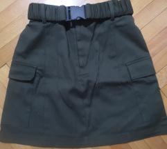 Ženska uska suknja sa dzepovima