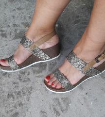 BELLA WOMEN sandale sa zlatnim strasom 24cm NOVO