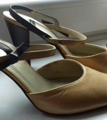 Italij.zlatkaste kožne svečane NOVE cipel 38