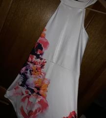 Bela cvetna haljina ***AKCIJA***