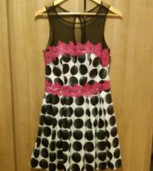 Haljina roze-crna