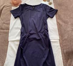 H&M MAMA NOVA teget haljina za trudnice M