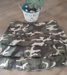Militari suknjica, NOVO, M i poklon