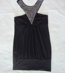 Crna majica sa cirkonima