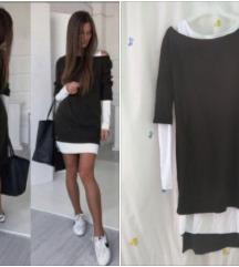 Fenomenalna crno-bela haljina 2 u 1