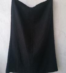 Midi deblja crna suknja XXL